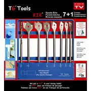 8-Pc Spade Drill Bit Combo Set