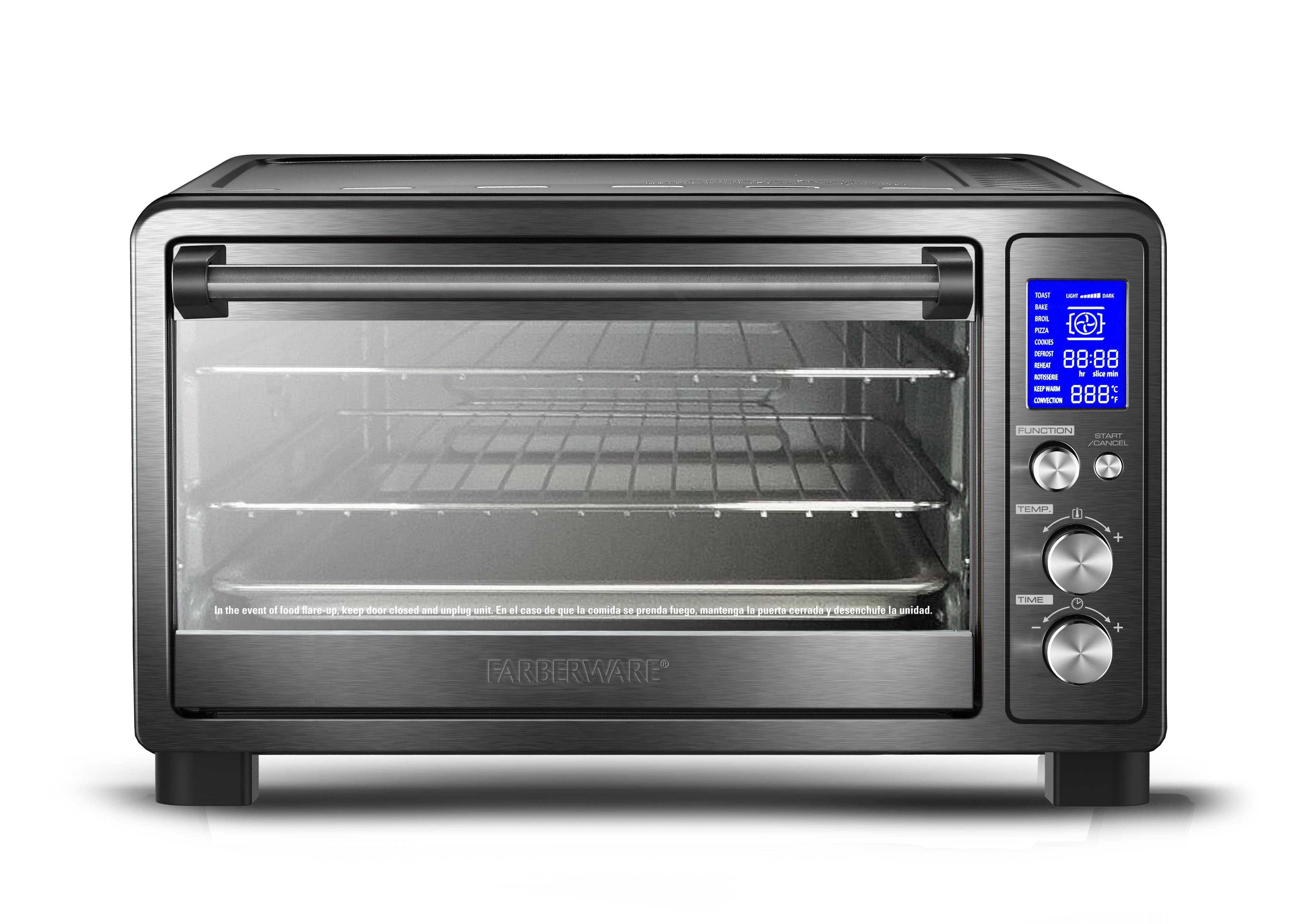 Farberware Black & Stainless Steel Toaster Oven