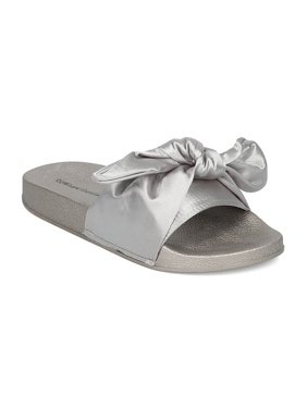 e0c1ba8ae Product Image New Women Heart.thentic FLO-01 Satin Open Toe Bow Tie Footbed  Slide