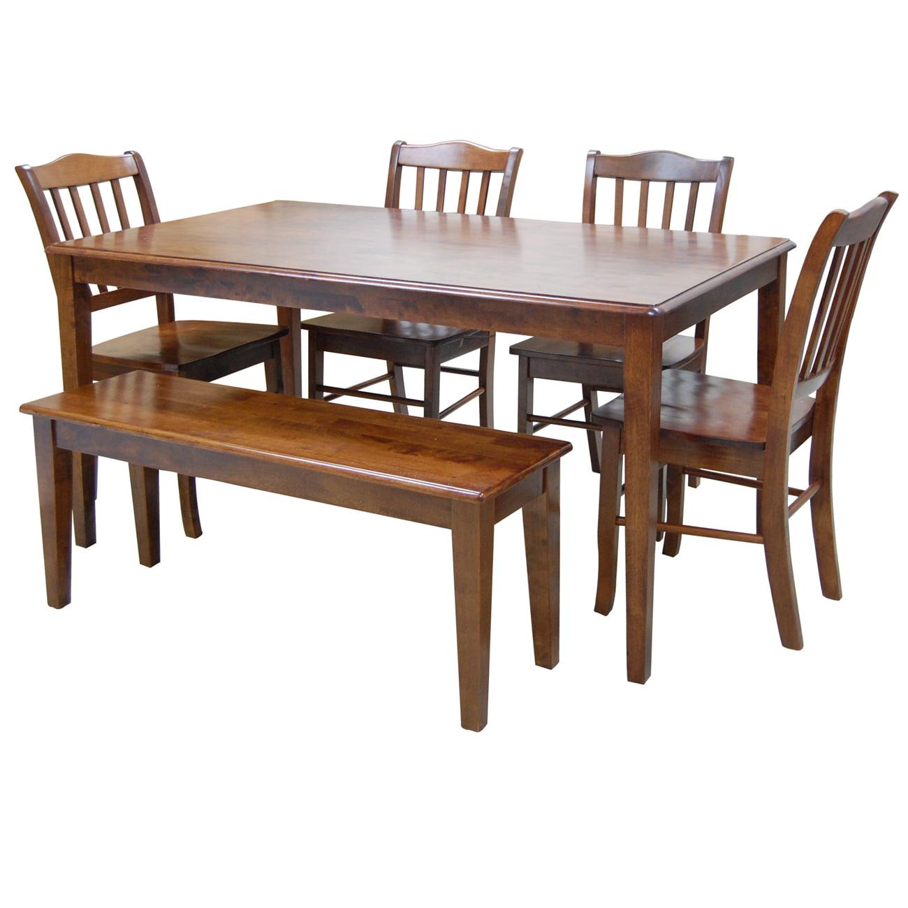 Boraam Shaker Dining Table Walnut Walmart Com