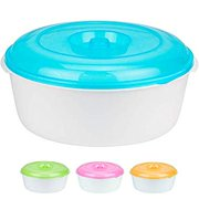 Extra Large Food Storage Container with Lid, 7.4 Quarts, BPA Free- Plastic, Shatterproof, Reusable Mixing Bowl, Dry Food Container, Snack Bowl, Store Leftovers, Random Colors (1 Pack)