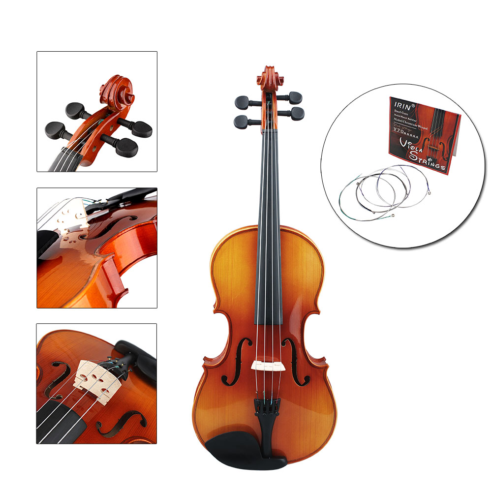 Zimtown Nickel 4pcs IRIN V70 Nickel Chrome Wrap Professional Viola Strings... by
