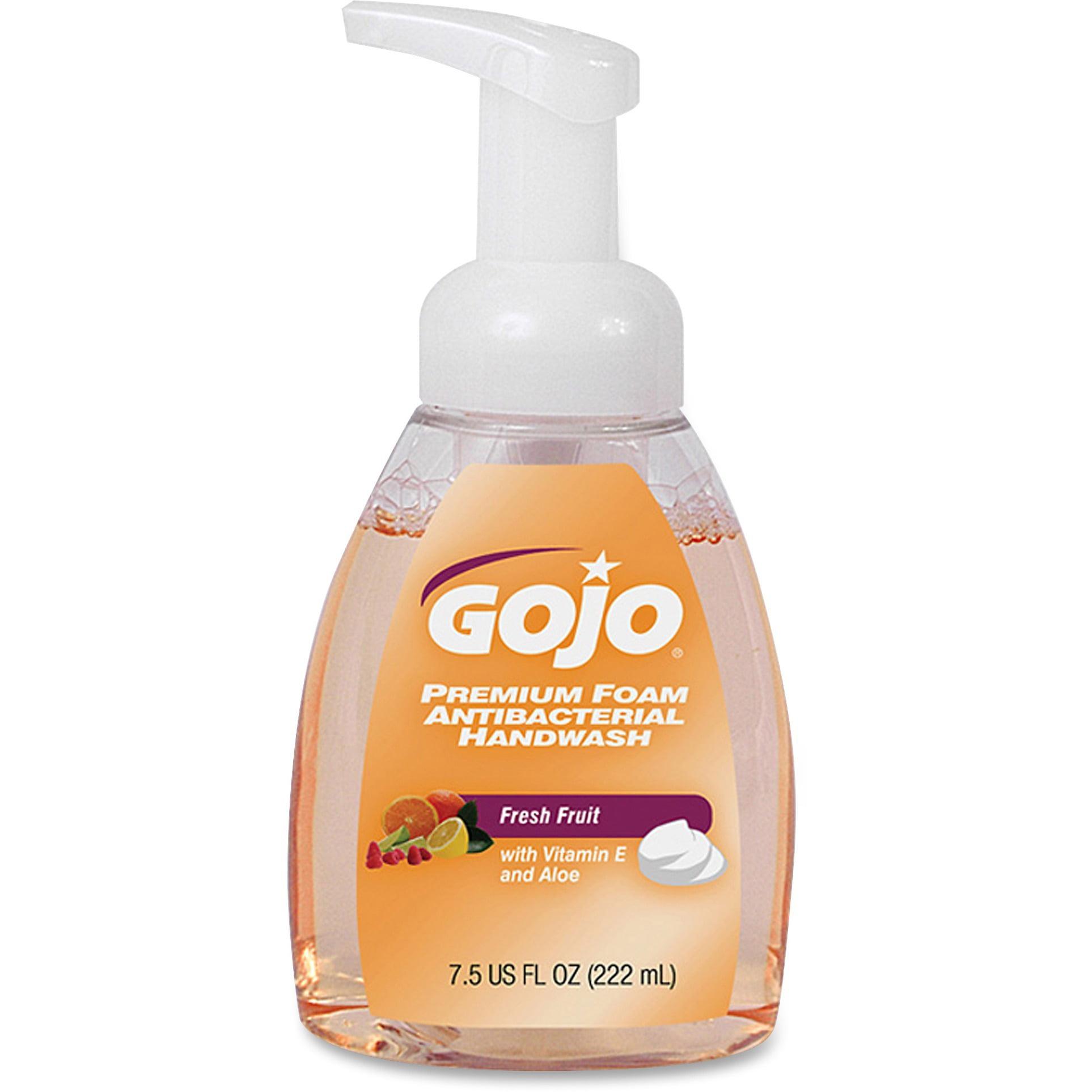Gojo, GOJ571006CT, Premium Foam Antibacterial Handwash, 6 / Carton, Translucent Apricot