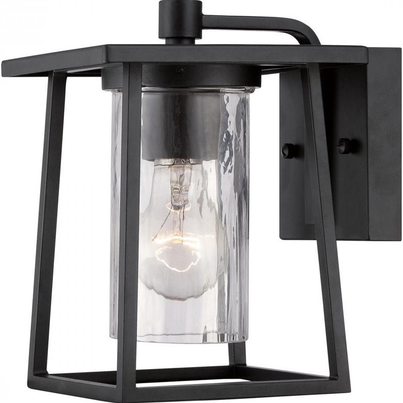 Quoizel Lodge Small Wall Lantern in Mystic Black