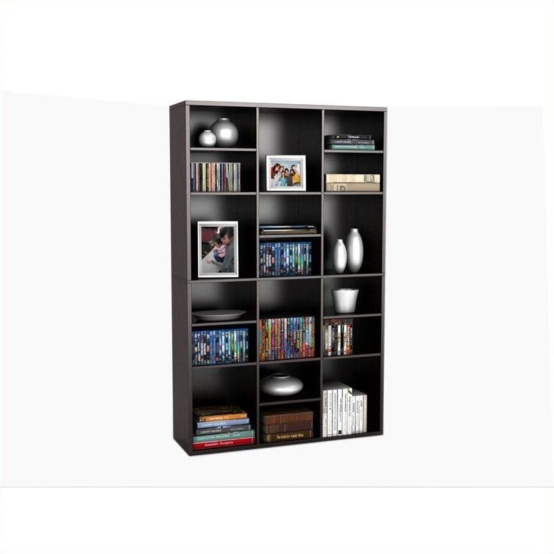 "Atlantic Inc Versa 61"" 18-Compartment Wall Unit in Espresso - image 4 de 4"
