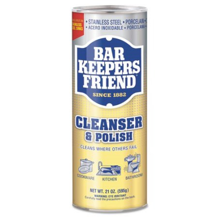 Bar Keepers Friend All-Purpose Cleaner, Stain Remover and Polish, Powder, 12-Ounces