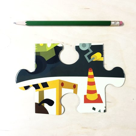 "Mudpuppy Jumbo Construction Site Puzzle for Ages 2 to 5 – 25 Piece Construction Equipment Puzzle, Measures 22"" Square - image 1 de 5"