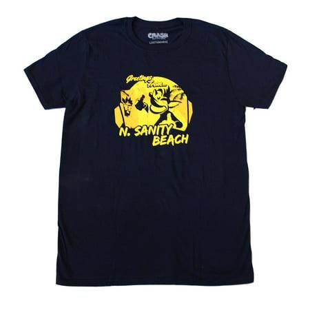 "Crash Bandicoot ""N.Sanity Beach"" Adult T-Shirt (Loot Crate Exclusive)"