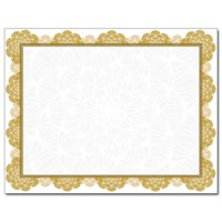 Gold Medallion Laser & Inkjet Certificate Border Paper, 100 Sheets