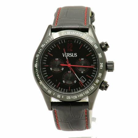 Versus By Versace Men's Cosmopolitan SGC040012 Black/Red Analog Watch (Watches Men Versace)