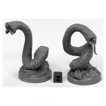 Reaper Miniatures REM44031 Bones Giant Leeches Miniatures, Black - Pack of 2 Miniatures Huge Pack