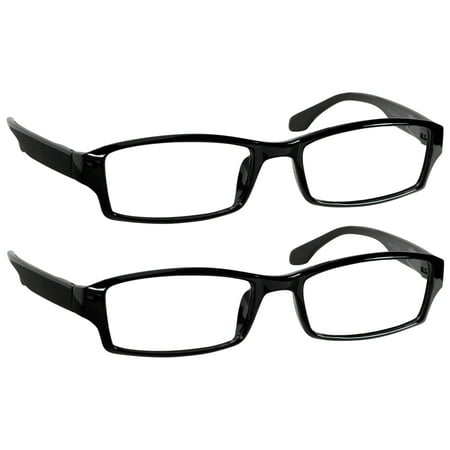 Reading Glasses For Men & Women _ 2 Pack of Readers _ Spring Arms & Dura-Tight Screws _ Always Have a Stylish Look and Crystal Clear Vision When You Need (Nerd Look Glasses)