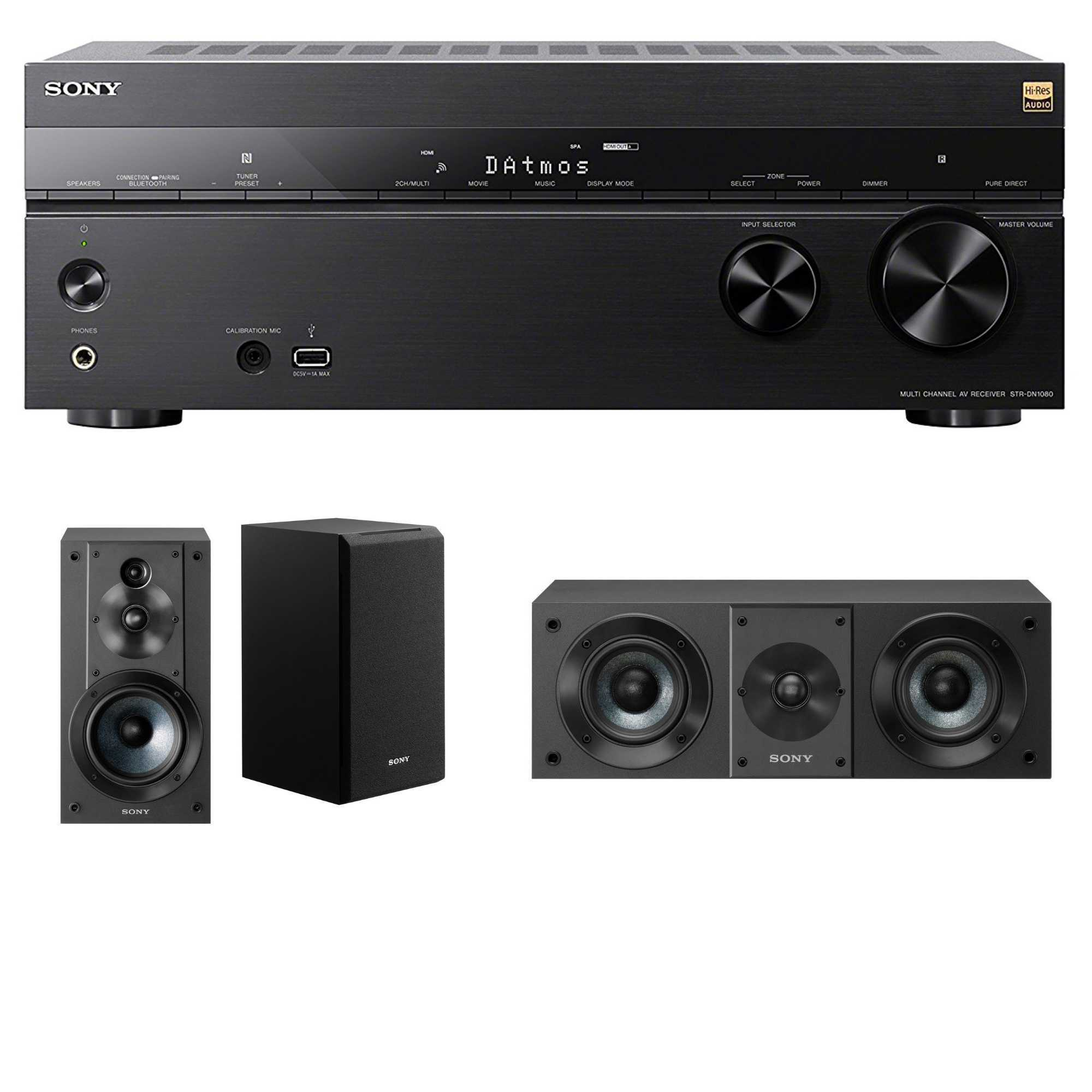 Sony 7.2 Dolby Atmos Wi-Fi Network AV Home Theater Receiver with Speaker Bundle