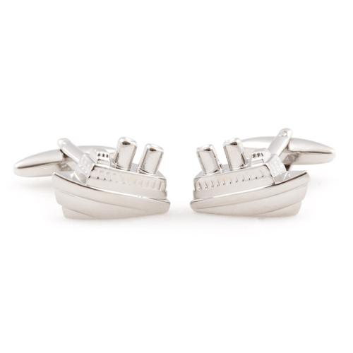 Cuff Daddy  Silvertone 'Cruise Time' Cufflinks