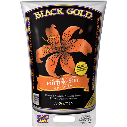 Black Gold 1402040 16 QT U 16 Quart All Organic Potting Soil