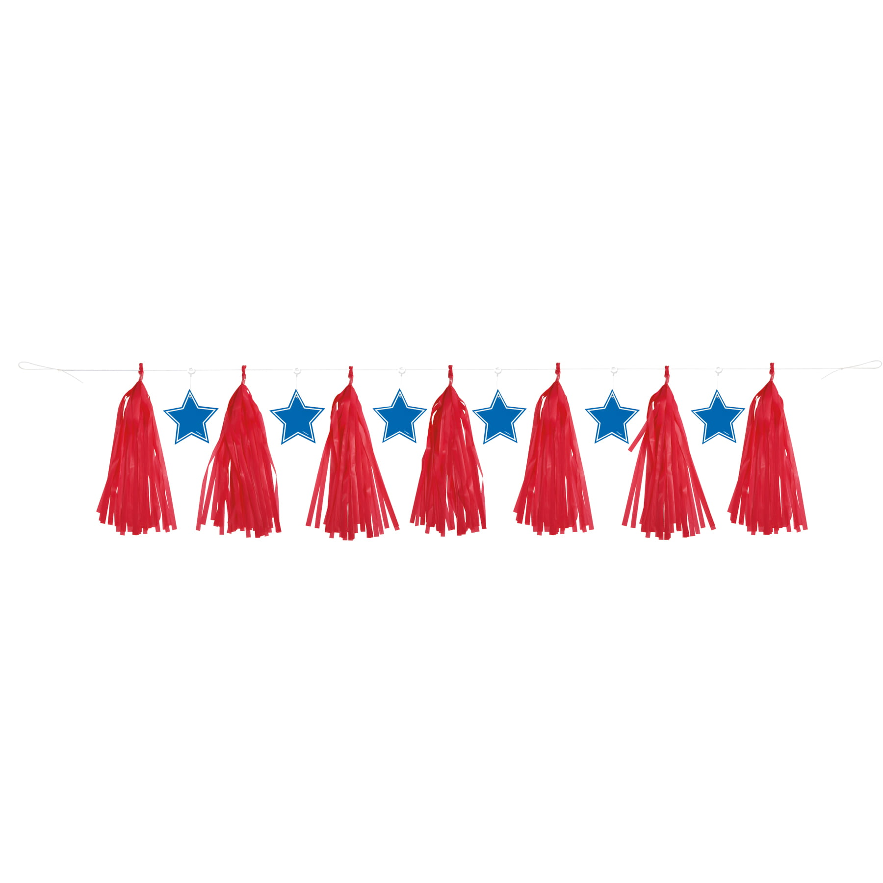 Patriotic Freedom Only 16.99 20 Tassel Presidents Day Tissue Paper Garland Decorations Red White Blue SHIPPED NEXT DAY Inauguration