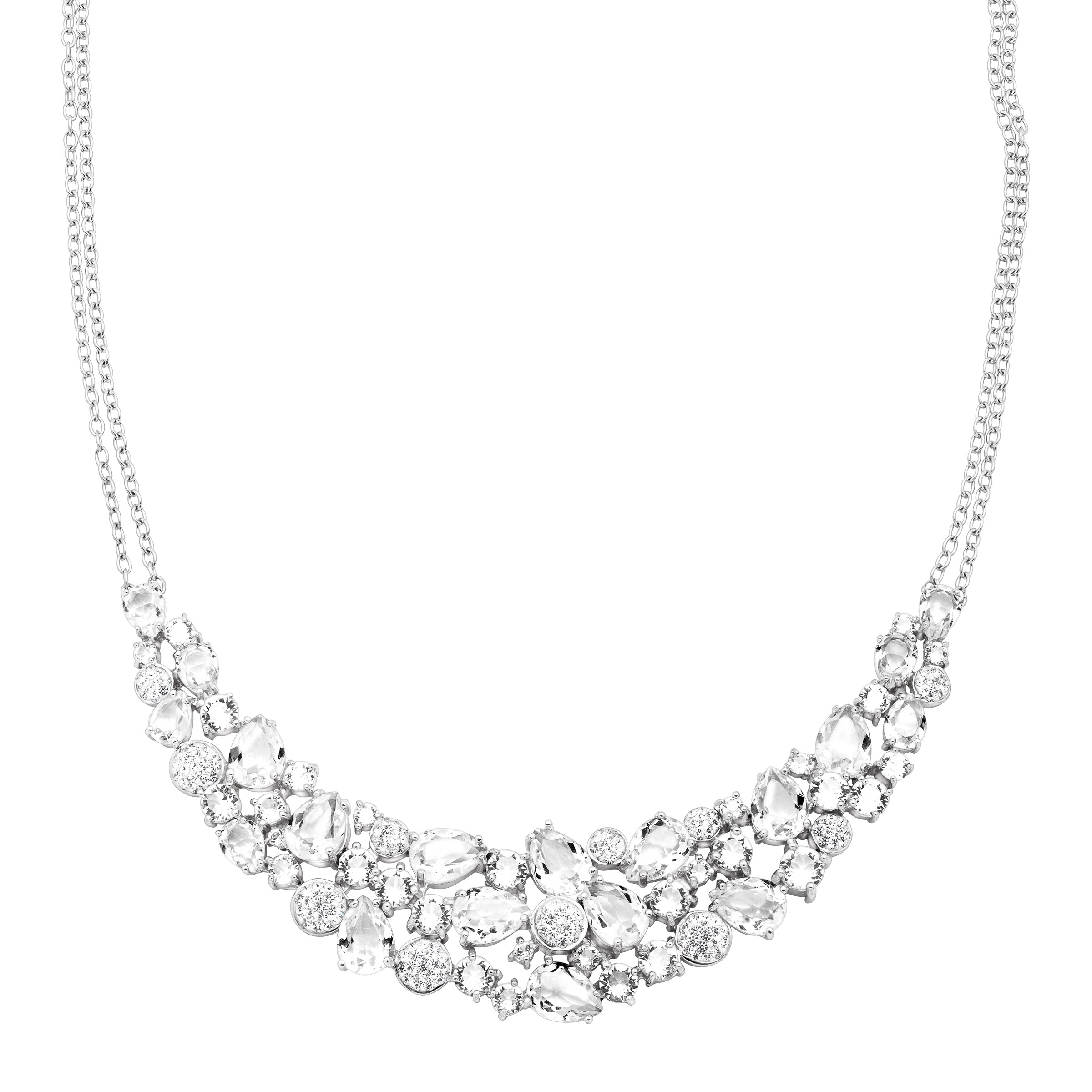 Richline Luminesse Garland Bib Necklace with Swarovski Cr...