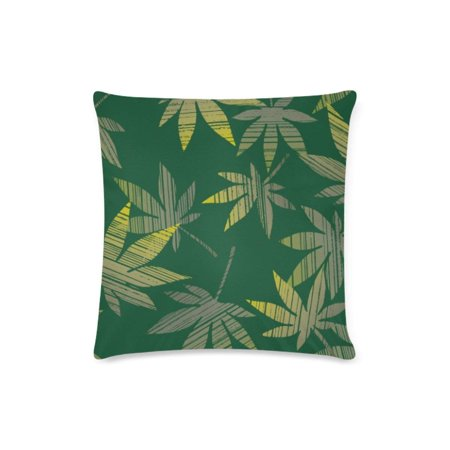 WOPOP Maple Leaf Rubbings Throw Pillow Case Pillow Cover Home Sofa Decor 16x16 - Leaf Rubbings