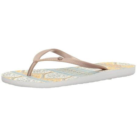 Roxy Women's Bermuda Flip Flop Sandels, Gold, Size - Roxy Golden Track