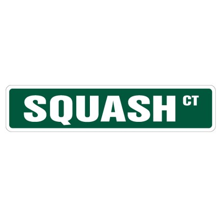 - SQUASH Street Sign racquet player ball court lover | Indoor/Outdoor |  24