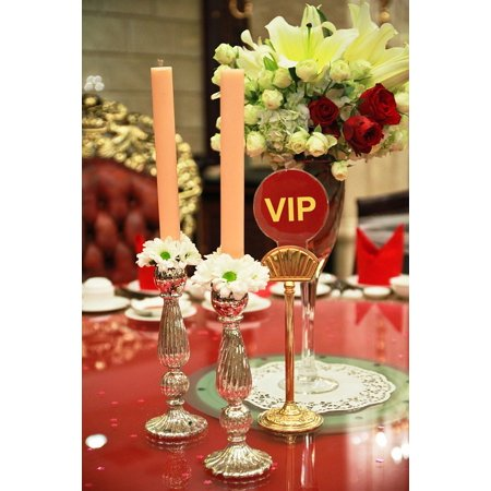 LAMINATED POSTER Luxury Dining Restaurant Table Setting Vip Table Poster Print 24 x 36 (Vip Sports Photos)