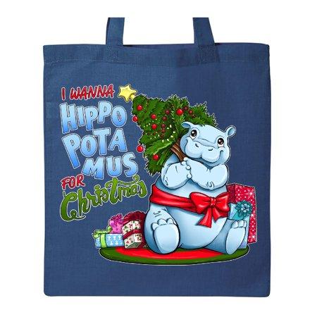 I Wanna Hippopotamus For Christmas.I Wanna Hippopotamus For Christmas Cute Hippo Tote Bag