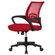 Adjustable Ergonomic Mesh Chair 360-Degree Rolling Office Computer Chair, Red