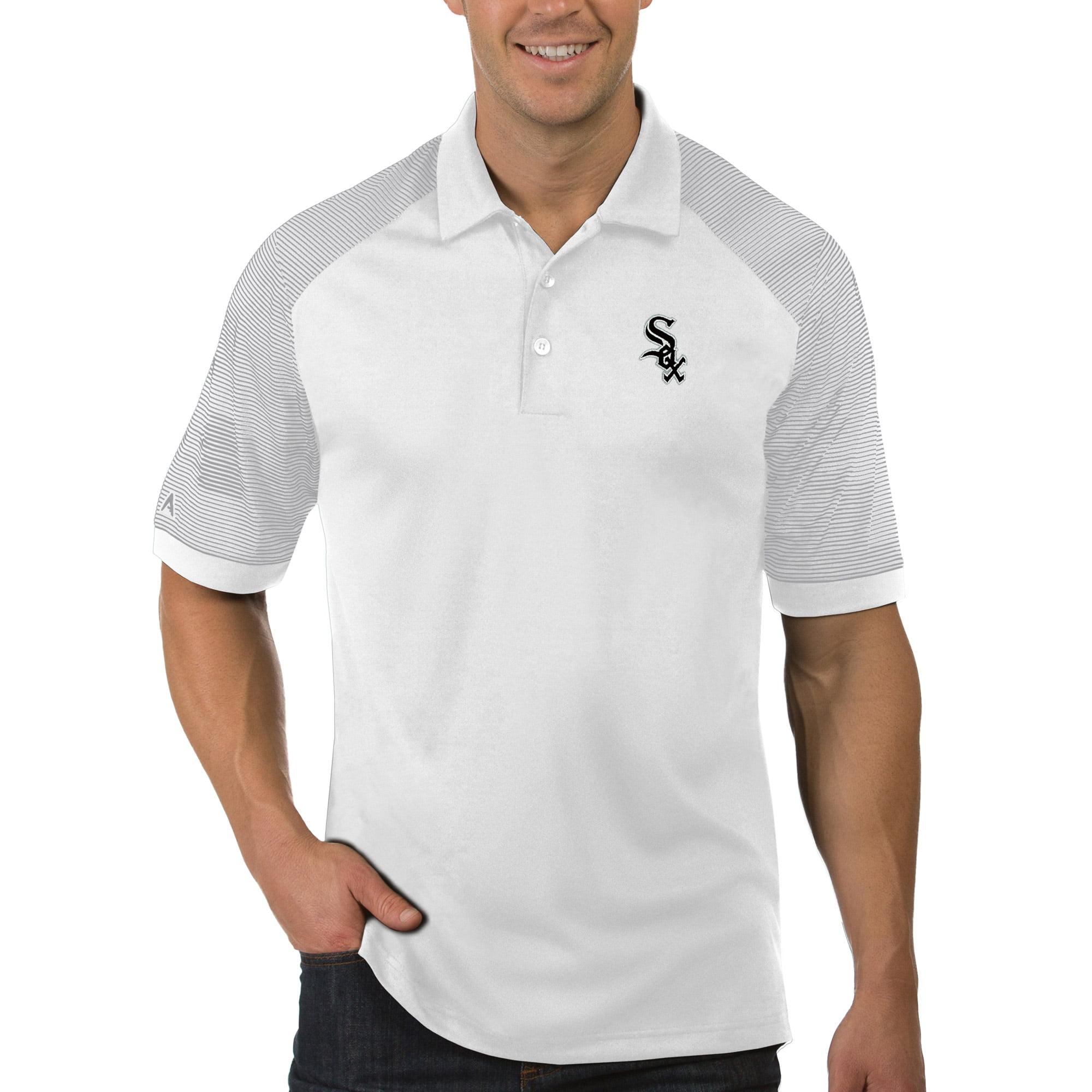 Chicago White Sox Antigua Engage Polo - White/Gray