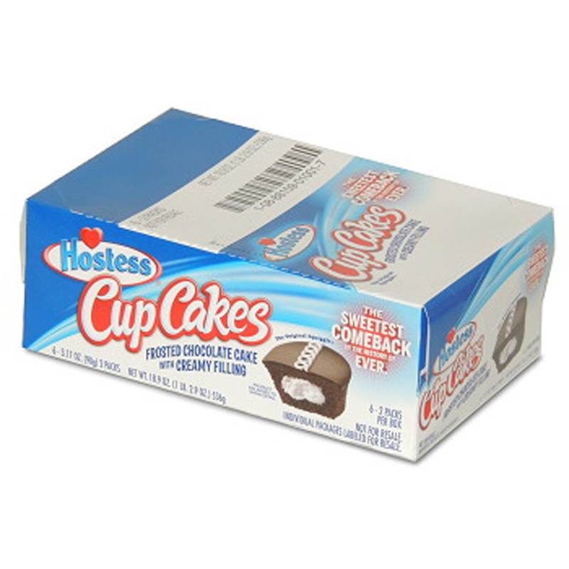 Hostess Cup Cake 6/2Pk Chocolate - Pack Of 6