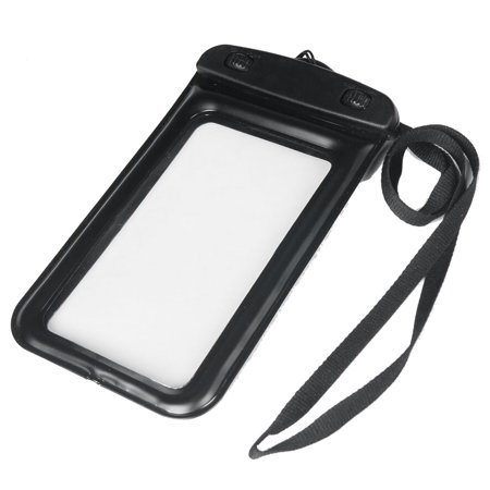Black Plastic Double Turn Lock Water Resistant Case Cover w Neck