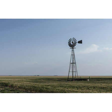 Countryside Windmill - LAMINATED POSTER Panhandle Sky Texas Western Windmill Countryside Poster Print 24 x 36
