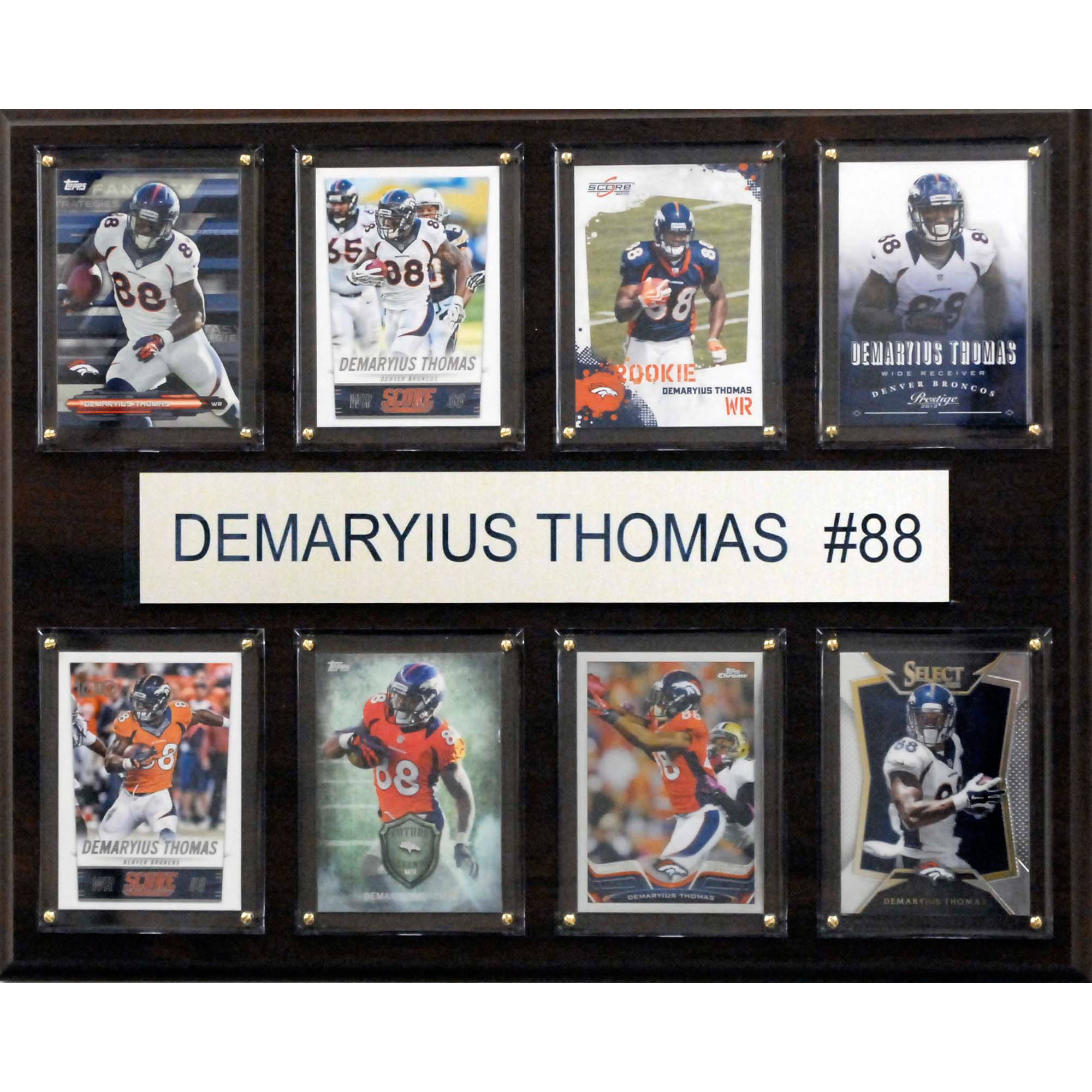 C&I Collectables NFL 12x15 Demaryius Thomas Denver Broncos 8-Card Plaque