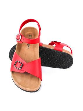 Seranoma Women's Comfort Cork Double Strap Sandal | Secure Adjustable Ankle Strap