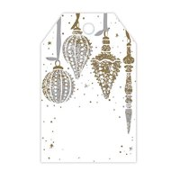 Mercury Glass Gloss Holiday Printed Gift Tags - 3 1/2in. x 2 1/4in. - 50 Pack