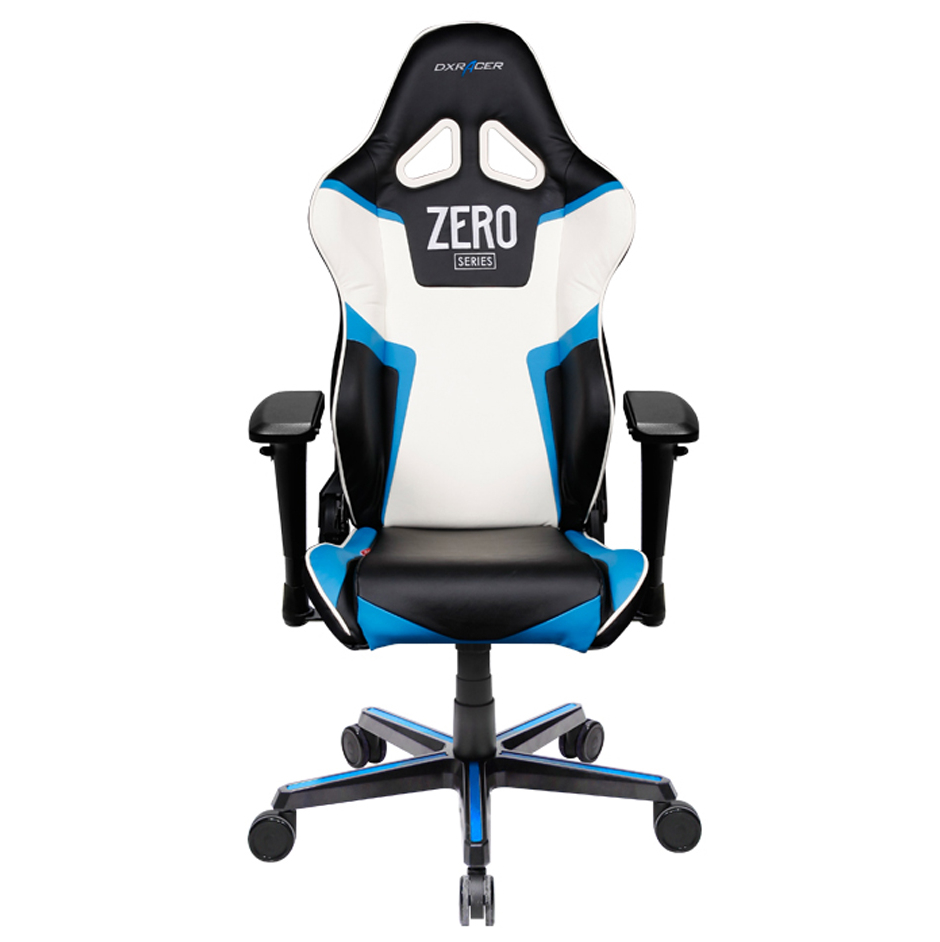 DX Racer DXRacer Racing Series OH/RV118/NBW/ZERO High-Back Gaming Chair Carbon Look Vinyl+PU(Black/Blue/White)