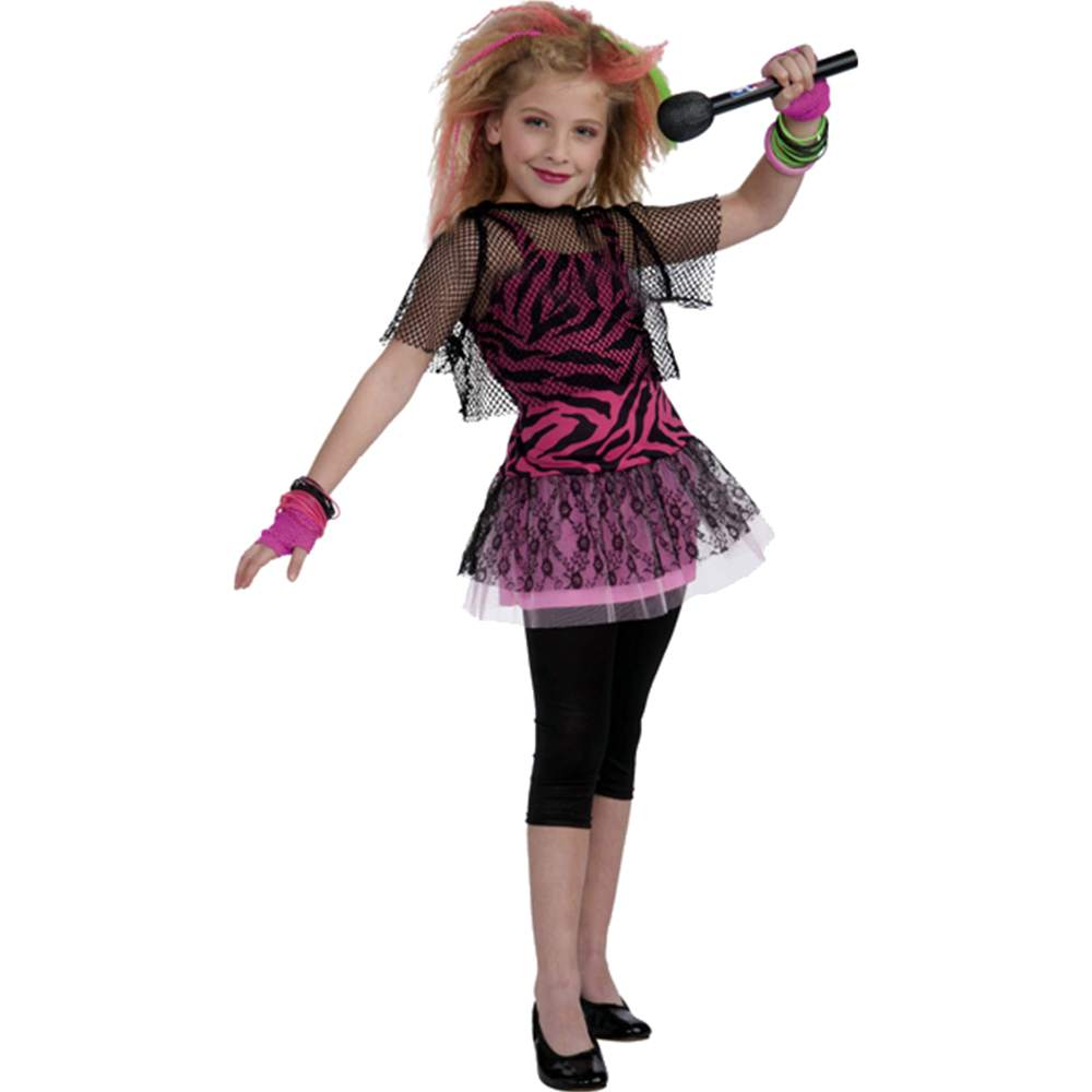 80s Rock Star Girl Kids Costume