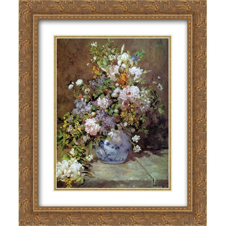 Pierre Auguste Renoir 2x Matted 20x24 Gold Ornate Framed Art Print 'Spring Bouquet'
