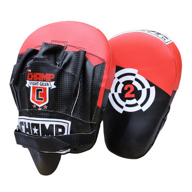 The Champ Focus Mitts Black by The Champ Fight Gear
