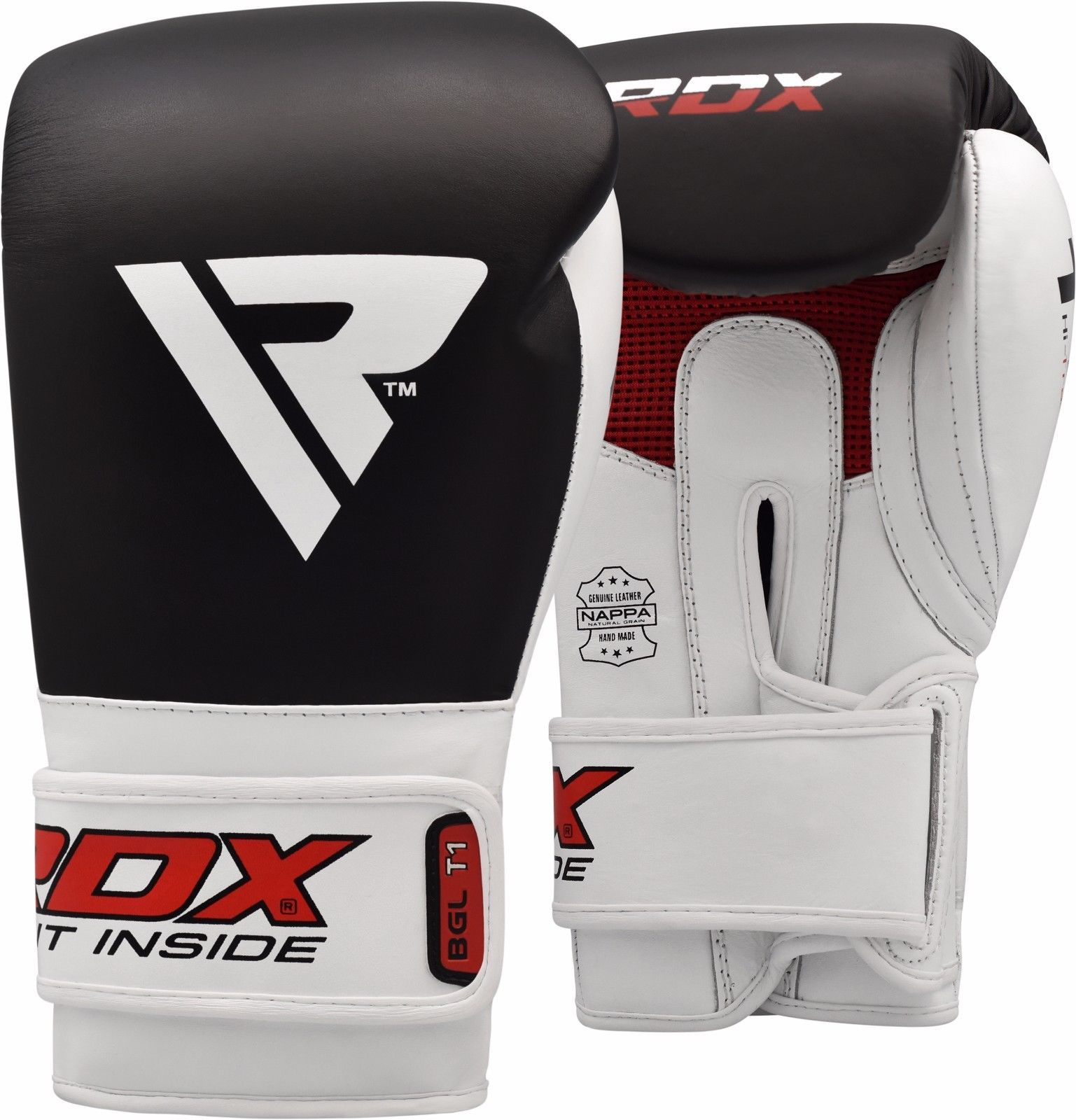 RDX Leather Boxing Gloves T1 Elite Training Bag Glove