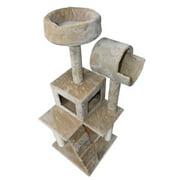 Hiding Cat Tree 49`` Tower Furniture Scratch Cat Condo