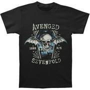 Avenged Sevenfold Men's  Chain Coffin T-shirt Black