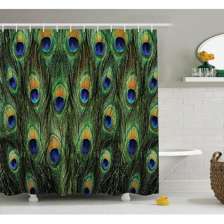 peacock decor shower curtain set stunning peacock tail