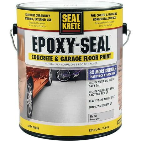 Concrete Epoxy (SEAL KRETE EPOXY-SEAL Concrete and Garage Floor Paint, Gallon)