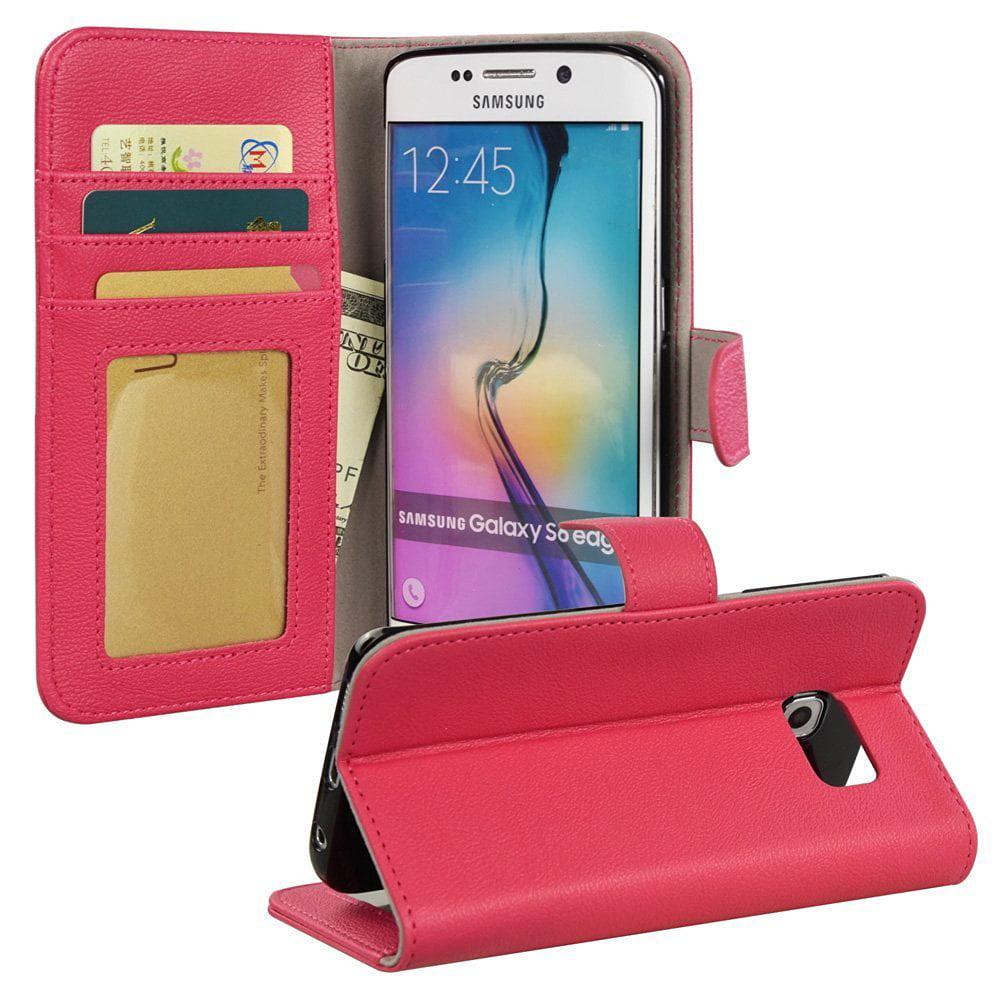 BUDDIBOX S6 EDGE Case Premium PU Durable Leather Wallet Folio Protective Cover Case for Samsung Galaxy S6 EDGE