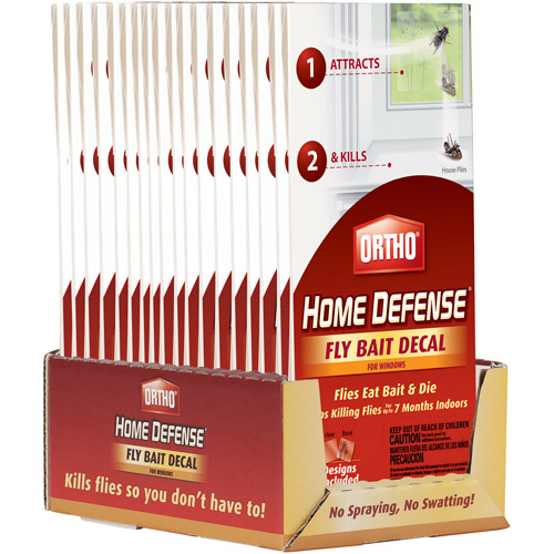 Ortho Home Defense Fly Bait Decal for Windows, 2pk