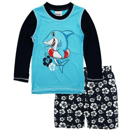 fd917628 Sweet & Soft - Sweet & Soft Toddler Boys Shark Long Sleeve Rash ...