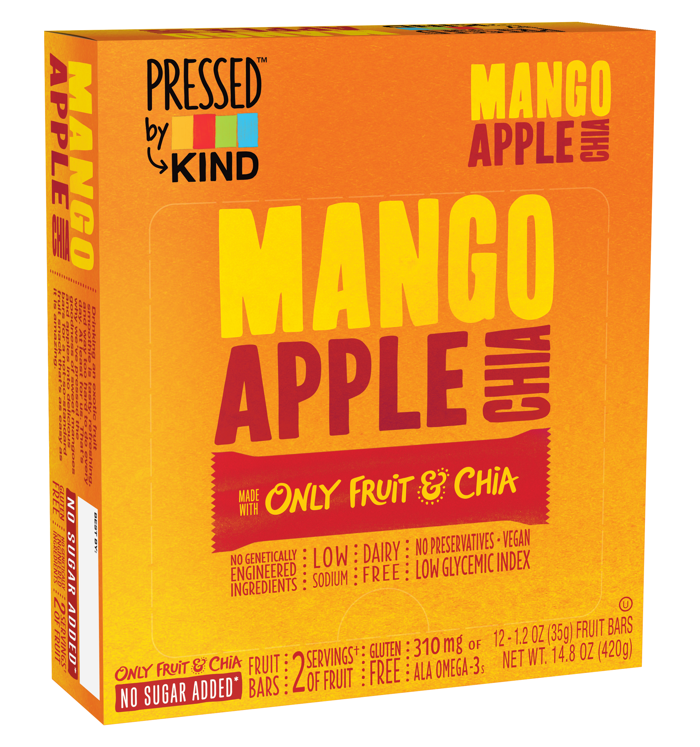 Kind™ Pressed™ Mango Apple Chia Fruit Bars 12-1.2 oz. Bars