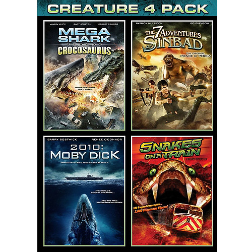 Asylum: Creature 4-Pack: Mega Shark VS. Crocosaurus / The 7 Adventures Of Sinbad / 2010: Moby Dick / Snakes On A Train (Widescreen)