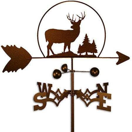 SWEN Products Inc Rustic Handmade Deer Buck Weathervane