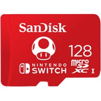 SanDisk 128GB microSDXC UHS-I Memory Card for Nintendo Switch, Red - 100MB/s, Micro SD Card - SDSQXAO-128G-GNCZN